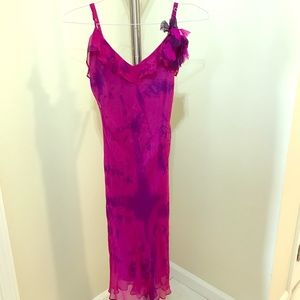 Vintage Betsey Johnson Slip Dress Hot Pink